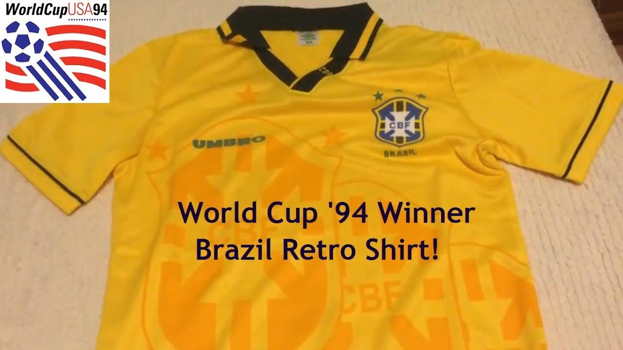 f1d1eadb3 Minejerseys.co - Brazil 1994 Retro Football Jersey Review - YouTube