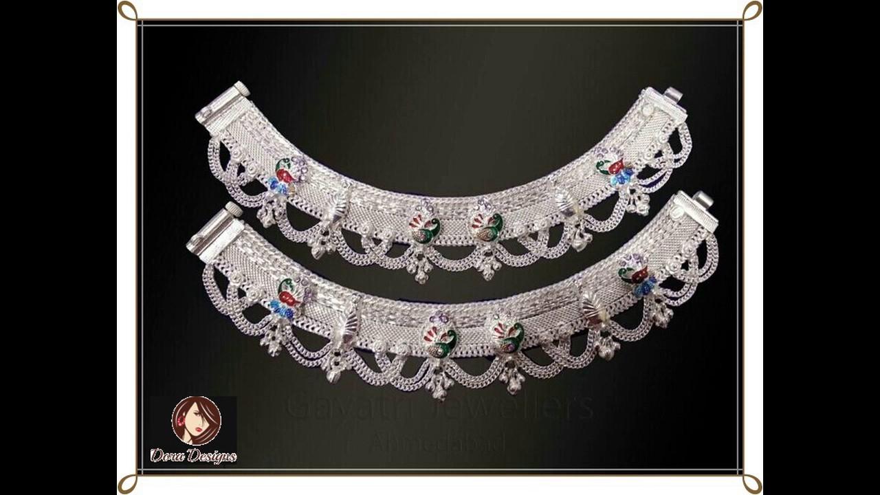 Latest Silver Anklets Designs 2017/ Latest Payal Design-Dora ...