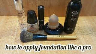 How To Apply Foundation Like a Pro//easy steps for getting flawless foundation_zainab numan