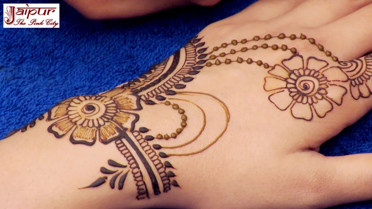 Mehndi Hands With Watch : How to apply new latest henna mehndi designs for hands