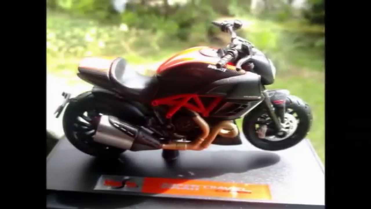 Motorcycle cast-Maisto Ducati Diavel Carbon - YouTube
