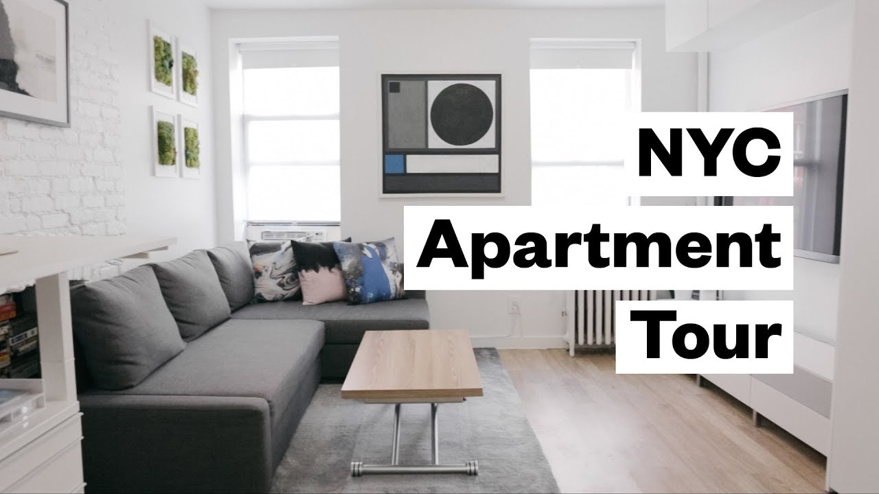 Apartment Tour! 300 sq. foot studio in NYC - YouTube