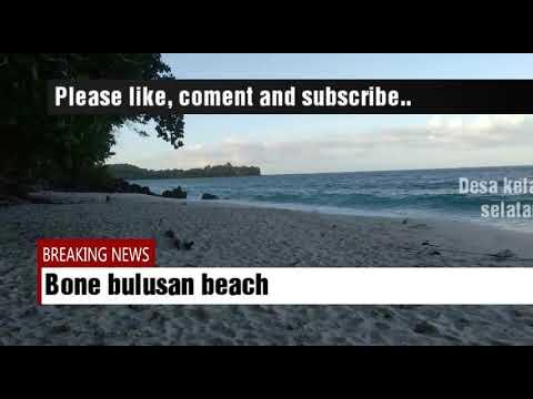 Pantai Wisata Desa Kelapa Lima Banggai Laut Youtube