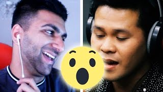 THIS MAN IS NOT HUMAN! (Marcelito Pomoy 'The Prayer' - Celine Dion/Andrea Bocelli FUNNY REACTION!)