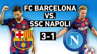 Barcelona beat napoli 3-1 in a tale of two halves. at the camp nou, messi was magical once again and de jong had sparkling performance. but it wasn't all r...