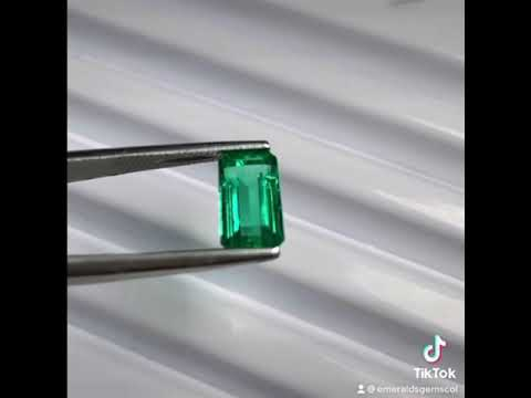 transparent ask For Video natural green top Stunning SMERALDO ZAMBIA 1.22 carats