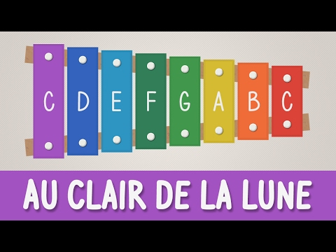 How to play Au Clair de la Lune on a Xylophone - Easy Songs - Tutorial - YOUCANPLAYIT.COM