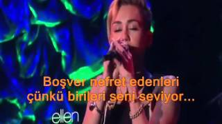 Miley cyrus -we cant stop -turkce altyazi