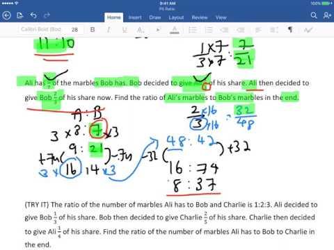 Primary 5 Math Ratio (Part1) Singapore