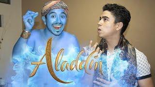 EL GENIO DE ALADDIN EN EL MUNDO REAL! - (Pelicula, Parodia Aladdin) - Changovision
