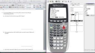 Using the TI 84 Fiฑancial Math App