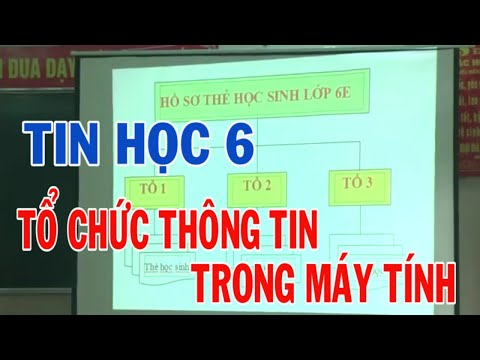 Tổ chức thông tin trong máy tính – Tin học 6//Dạy học tích hợp – Trường THCS Nông Trang | soan bai ban ve doc sach lop 9