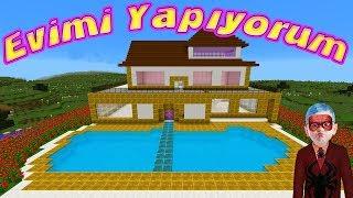 Örümcek Çocuk Minecraft'ta Evinin Yapımını Gösteriyor Örümcek Çocuğun Evi