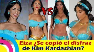 Eiza González ¿SE COPIO EL DISFRAZ de Kim Kardashian? se vistió de Jasmín / noticias zhows