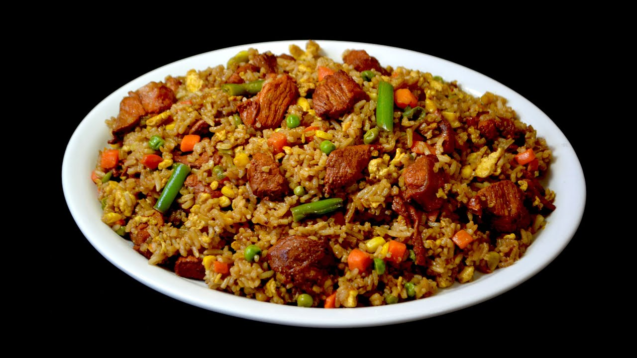 Arroz frito chino con cerdo comida china youtube for Como cocinar arroz