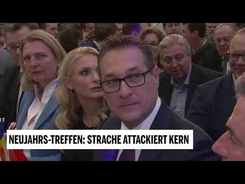 Neujahrs-Treffen der FPÖ - Strache attackiert Kern