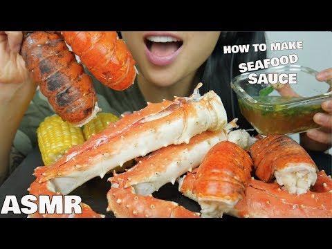 ASMR SEAFOOD BOIL + HOW TO MAKE SEAFOOD SAUCE (EATING SOUNDS) NO TALKING | SAS-ASMR