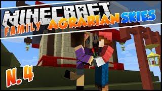 Minecraft - Agrarian Skies Family ep 04 - LA PASSERELLA!!!