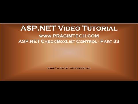 Asp.net Checkboxlist Control   Part 23