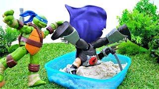 Супер Черепашки Ниндзя и Шредер! Видео игры для мальчиков.