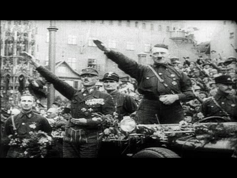 HD Historic Archival Stock Footage WWII Nazi Plan Rise of the NSDAP 1921-1933