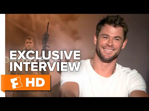 How Michael Peña Met Chris Hemsworth's Wife - 12 Strong (2018) Interview | All Access