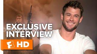 How Michael Peña Met Chris Hemsworth's Wife - 12 Strong (2018) Interview | All Access