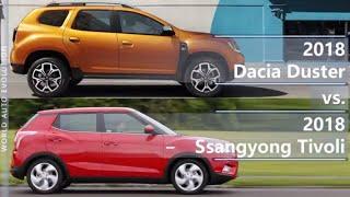 2018 Dacia Duster vs 2018 Ssangyong Tivoli (technical comparison)