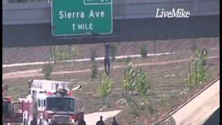 Raw Video: Man Jumps from 210 Freeway Overpass