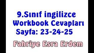 9.Sınıf İngilizce Çalışma Kitabı Cevapları Sayfa 23-24-25 MEB 2018-2019