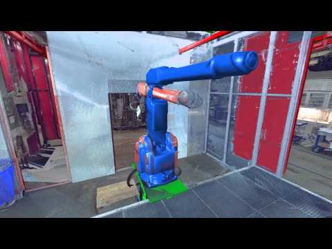 3D laser scanning - Industrial robot cell