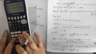 Non Right Angle Triangle Problem 3