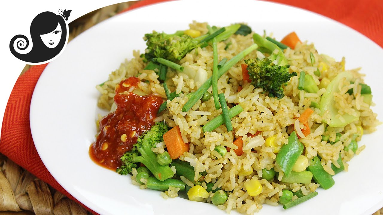How to make low fat vegetable stir fried rice vegetarianvegan how to make low fat vegetable stir fried rice vegetarianvegan youtube ccuart Choice Image