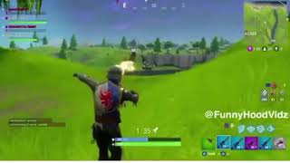 Fortnite dabbing while a bazooka barely killed him!😂
