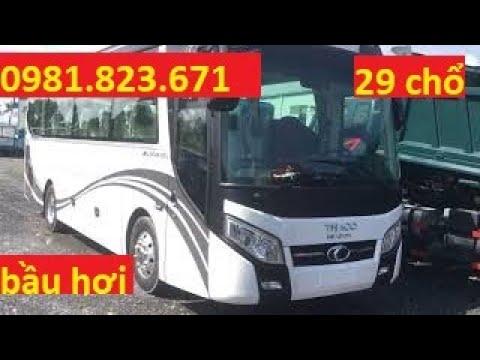 XE BUS 29 CHỔ BẦU HƠI mới nhất 2020, THACO TB85S 29 chổ ngồi, bầu hơi đời 2020. 0938907659( Yên)