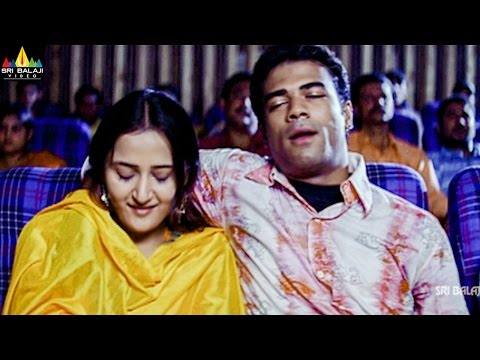 Aziz Naser With His Girl Friend In Theatre  Hyderabad Nawabs Movie s  Sri Balaji Video