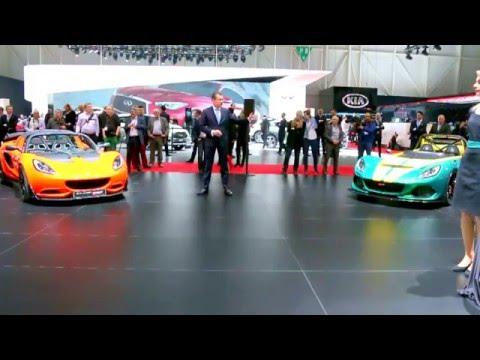 Lotus Press Conference - Geneva 2016. Evora Sport 410 and Exige Sport 350 Roadster Reveal