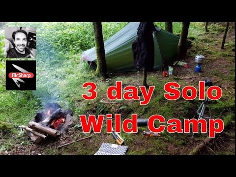 3-day Solo wild camp in the woods, Luxembourg - Belgium - Hilleberg Akto