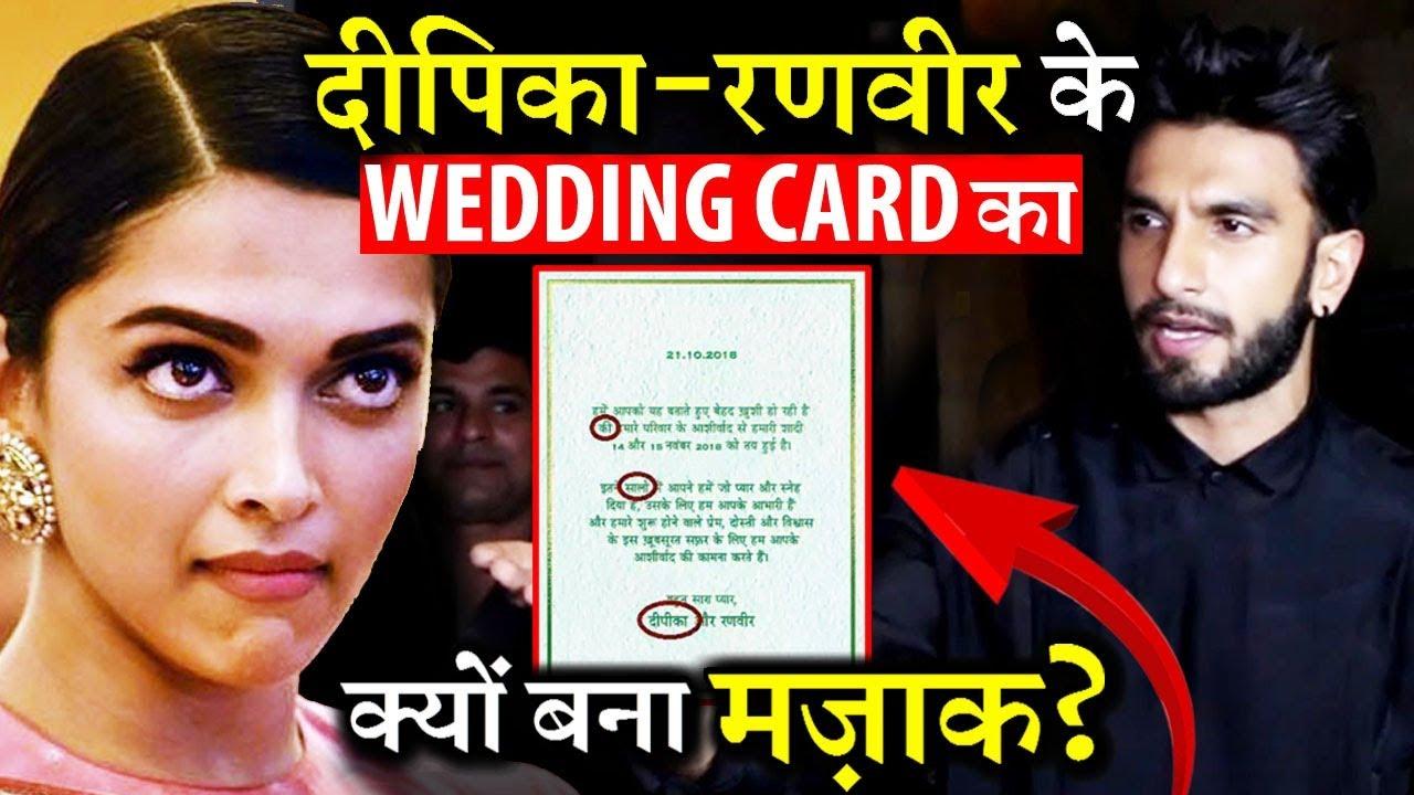 Why People Trolling Deepika Padukone Ranveer Singh S Wedding Card