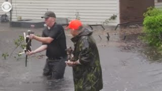 Cajun Navy continues to rescue people, pets from Hurricane Florence flooding