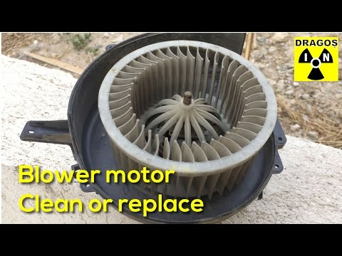 VW Polo 9N Heater - Noisy Blower Motor Replacement or Cleaning
