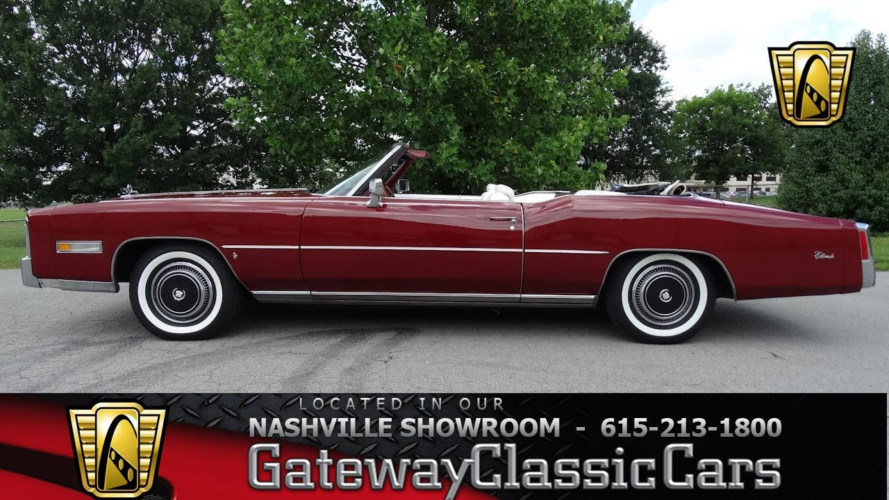 1975 Cadillac Eldorado Convertible, Gateway Classic Cars - Nashville #533 - YouTube