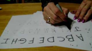 Teaching How To Write The Abc's And 123's To 3 And 4 Year Olds.mov