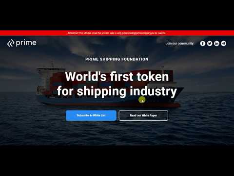 PRIME - quick payments for marine cargo transport