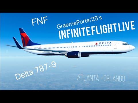 Infinite Flight LIVE  FNF  KATL - KMCO  DELTA 737-9