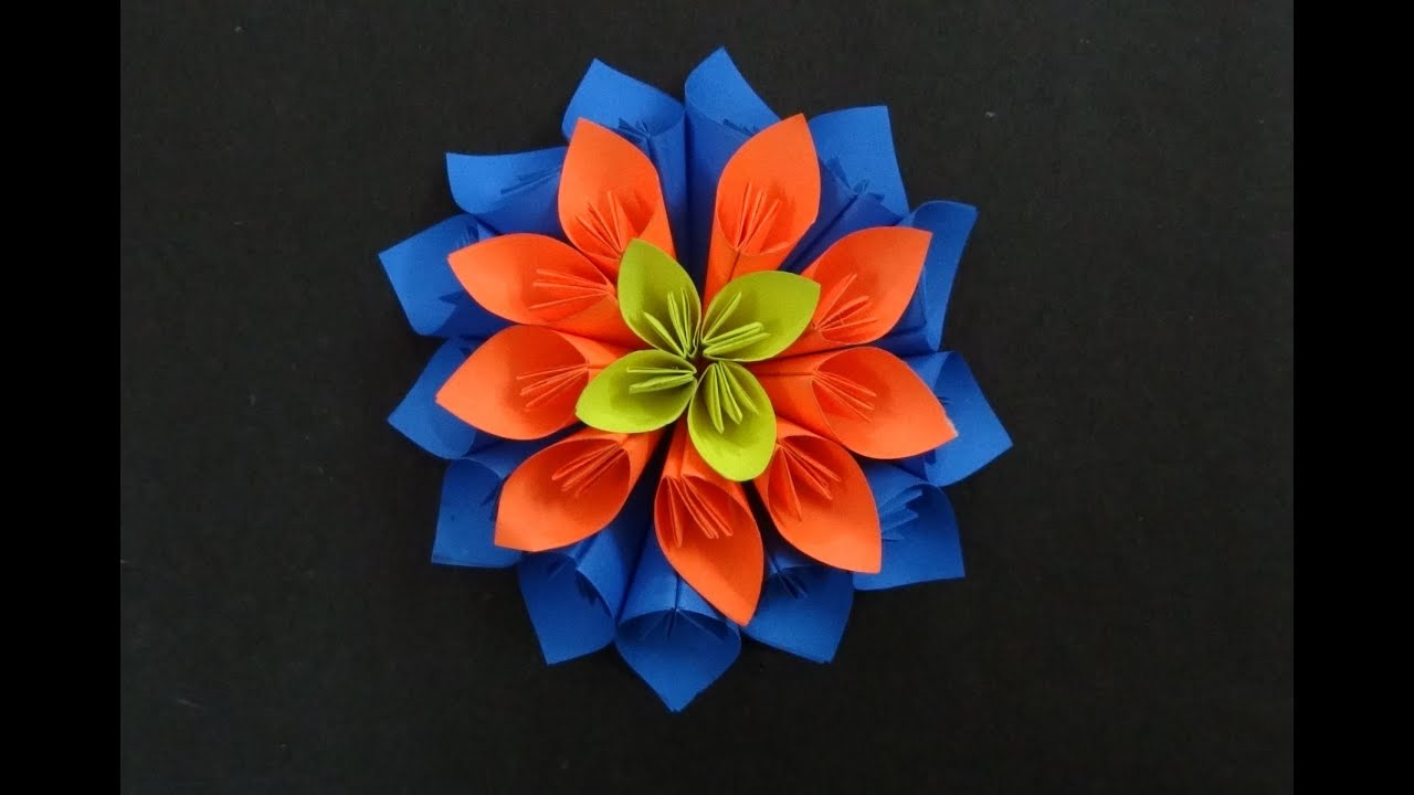 Paper Flower Tutorial How to make a Kusudama Flower