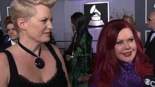 55th Grammy Awards - Kate Pierson & Monica Coleman Interview
