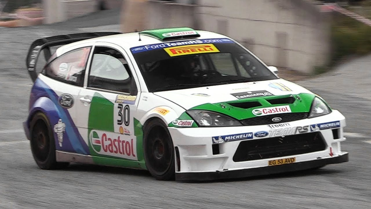 Ford Focus Rs Wrc 03 In Action Start Accelerations Turbo Sounds More