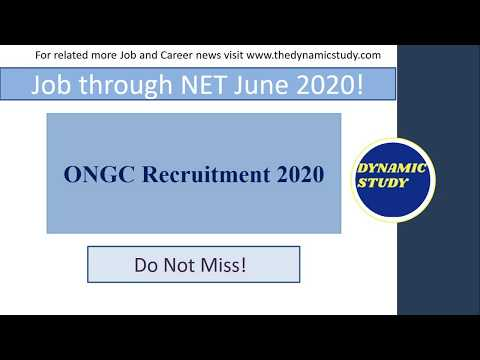 ONGC Recruitment 2020 through NET June 2020