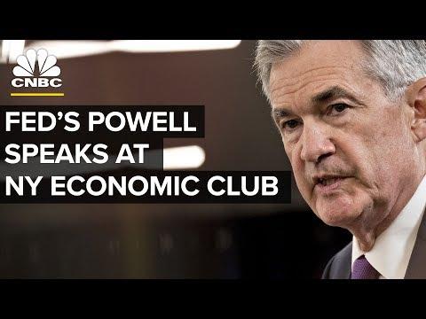 Fed Chair Jerome Powell Speaks at New York Economic Club - Nov. 28, 2018